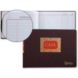 Libro de Caja tamaño cuarto apaisado caja entrada y salida. Dietario Miquelrius
