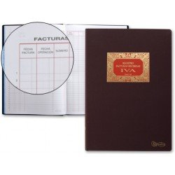 Miquelrius Libro de facturas recibidas con 100 hojas y tamaño folio