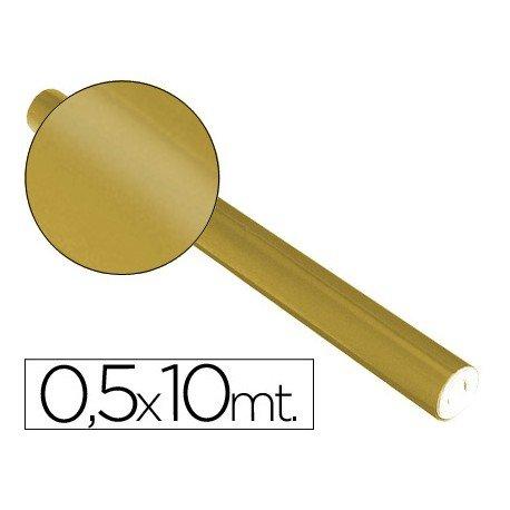 Papel metalizado Sadipal oro 65g/m2 50x10 cm