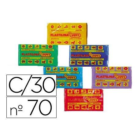 Plastilina Jovi colores surtidos pequeña Caja 30 unidades