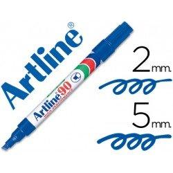Rotulador permanente Artline EK-90 Recargable Azul