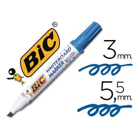 Rotulador Bic Velleda azul