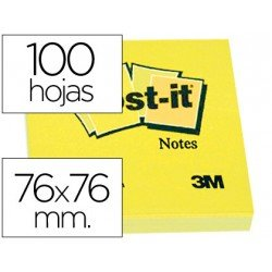 Post it, ® 76x76 mm. Bloc de notas adhesivas quita y pon 76x76 mm