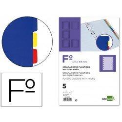 Separador liderpapel plastico juego de 5 separadores folio 16 taladros