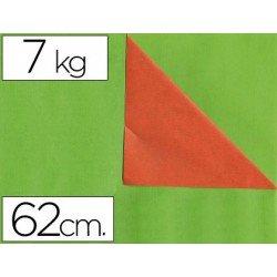 Papel fantasía verjurado Liderpapel. Doble cara: naranja y verde