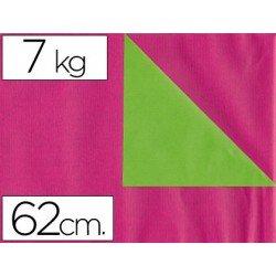 Papel fantasía verjurado Liderpapel. Rosa y verde. Doble cara