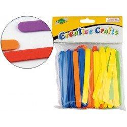 Palillos de goma eva colores surtidos 10x110 mm