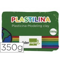 Plastilina Liderpapel verde oscuro grande
