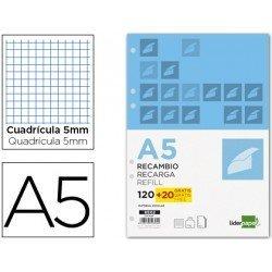 Recambio anillas DIN A5 5mm