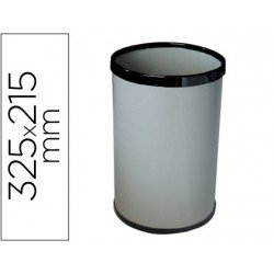 Papelera metalica 15 L gris