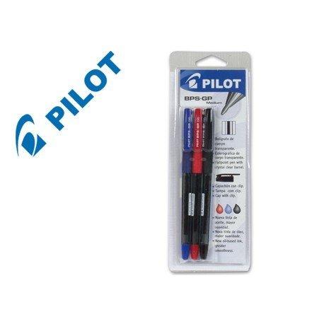 Boligrafo Pilot BPS-GP blister 3 unidades