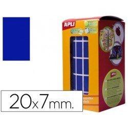 Gomets Apli Rectangulares Azules 20x7mm
