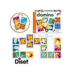 Juego educativo a partir de 3 años Domino animales y puntos Diset