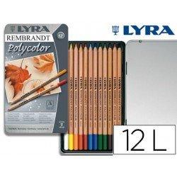 Lapices de colores Lyra Rembrandt polycolor hexagonales caja de 12 unidades