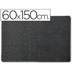 Alfombra 3m polipropileno color negro 60x150 cm