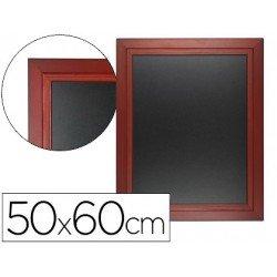 Pizarra Liderpapel mural negra madera 50x60 cm