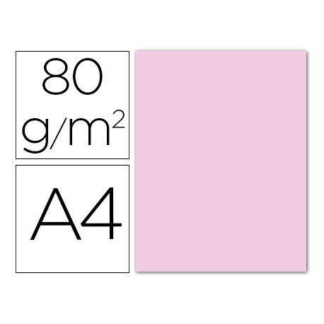 Papel color Liderpapel color rosa pastel A4 80g/m2 15 hojas