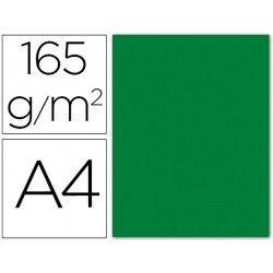 Papel color Liderpapel verde acebo A4 165g/m2