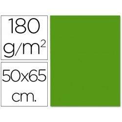 Cartulina Liderpapel verde navidad 50x65 cm 180g/m2