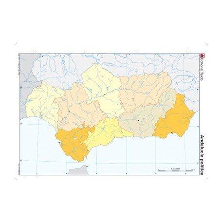 Mapa mudo Andalucia politico