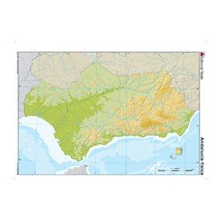 Mapa mudo Andalucia fisico