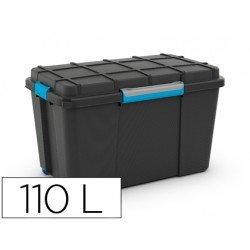 Contenedor plastico Cep 110 litros con 4 asas y ruedas