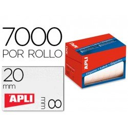 Apli Etiquetas adhesiva 1677 8x20 mm redondas rollo de 7000 unidades blancas