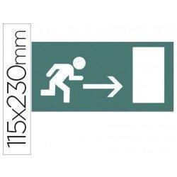 Etiqueta adhesiva Apli de señalizacion indicador direccion a la derecha de puertas de salida