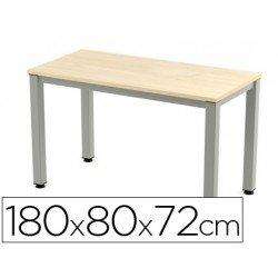 Mesa de oficina rocada executive 2003ad01 aluminio /haya 180x80 cm
