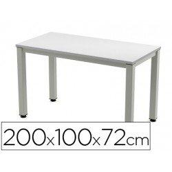 Mesa de oficina Rocada executive 2005ad02 aluminio /gris 200x100 cm