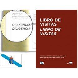 Libro Registro de visitas Gallego tamaño A4 y marca Liderpapel