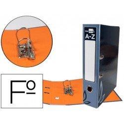 Archivador de palanca Liderpapel folio carton forrado rado negro lomo 75mm