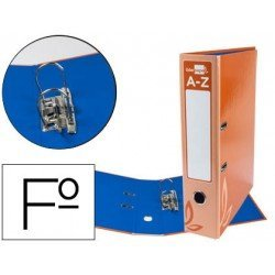 Archivador de palanca Liderpapel folio forrado rado lomo 52mm compresor metalico naranja