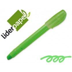 Marcador cera gel Liderpapel verde
