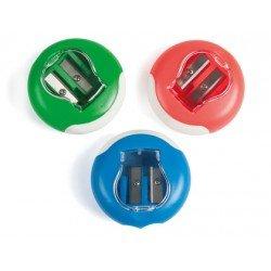 Sacapuntas plastico Liderpapel circular deposito