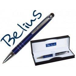 Boligrafo Belius Minsk con puntero pantallas tactiles azul estuche