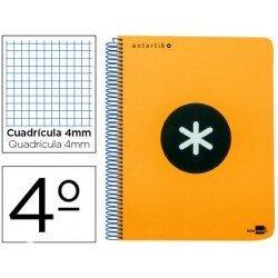 Bloc Liderpapel Cuarto Serie Antartik cuadricula naranja