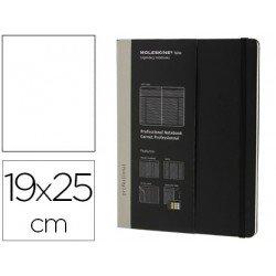 Libreta Moleskine profesional negro 19x25 cm