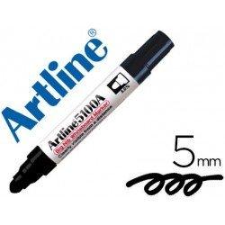 Rotulador para pizarra Artline negro punta redonda 5 mm