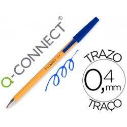 Boligrafo naranja Q-Connect Azul Fino