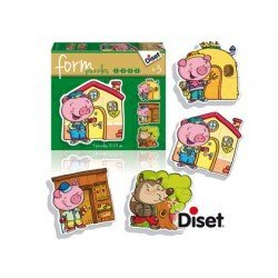 Puzzle a partir de 3 años Los Tres Cerditos marca Diset