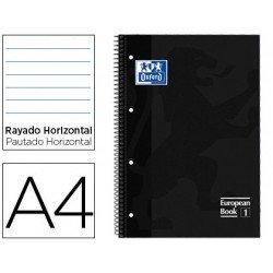 Bloc Oxford Din A4 tapa extradura microperforado Book1 rayado Negro