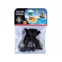 Globos piratas bolsa 8 unidades