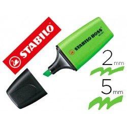 Rotulador Stabilo Boss fluorescente mini verde