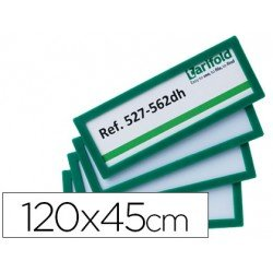 Identificador para puertas-pared Verde 120x45 MM