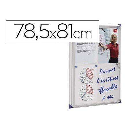 Vitrina de anuncios mural magnética 78,5x81cm Nobo