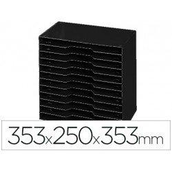 Archivador modular Cep poliestireno 12 casillas negro 353x250x353 mm