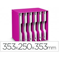 Archivador modular Cep poliestireno 12 casillas rosa/blanco 353x250x353 mm