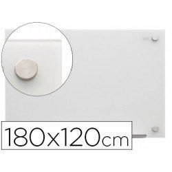 Pizarra Blanca Cristal Magnetica soportes invisibles 188x120 Nobo