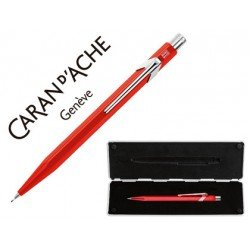 Estuche rojo con portaminas marca Caran D´ache 844 trazo 0,7mm